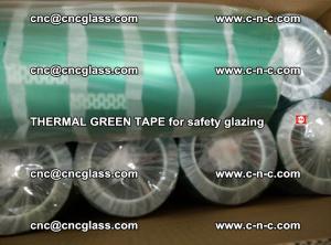 PET GREEN TAPE for EVALAM EVASAFE COOLSAFE EVAFORCE safety glazing (40)