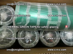 PET GREEN TAPE for EVALAM EVASAFE COOLSAFE EVAFORCE safety glazing (50)