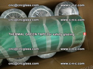 PET GREEN TAPE for EVALAM EVASAFE COOLSAFE EVAFORCE safety glazing (60)