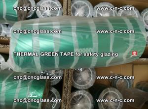 PET GREEN TAPE for EVALAM EVASAFE COOLSAFE EVAFORCE safety glazing (65)