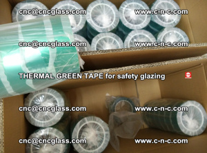 PET GREEN TAPE for EVALAM EVASAFE COOLSAFE EVAFORCE safety glazing (71)