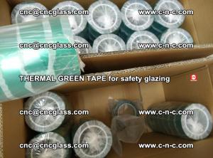 PET GREEN TAPE for EVALAM EVASAFE COOLSAFE EVAFORCE safety glazing (72)