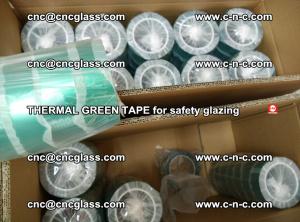 PET GREEN TAPE for EVALAM EVASAFE COOLSAFE EVAFORCE safety glazing (75)