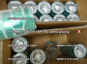 PET GREEN TAPE for EVALAM EVASAFE COOLSAFE EVAFORCE safety glazing (80)