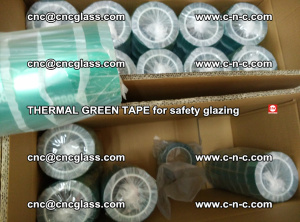 PET GREEN TAPE for EVALAM EVASAFE COOLSAFE EVAFORCE safety glazing (81)