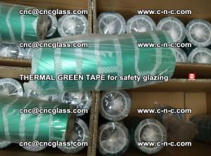 PET GREEN TAPE for EVALAM EVASAFE COOLSAFE EVAFORCE safety glazing (85)