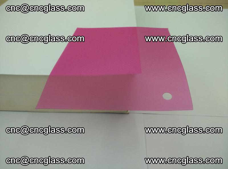 Pink transparent eva glass laminating interlayer film foil (10)