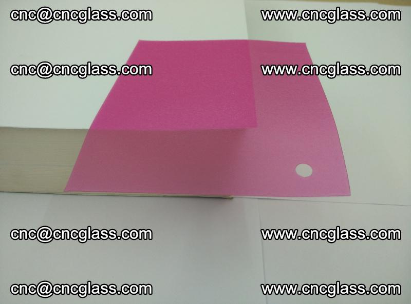 Pink transparent eva glass laminating interlayer film foil (9)